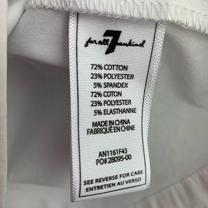 7 For All Mankind Tops - 7FAMK   NWOT Off Shoulder Tie White Top